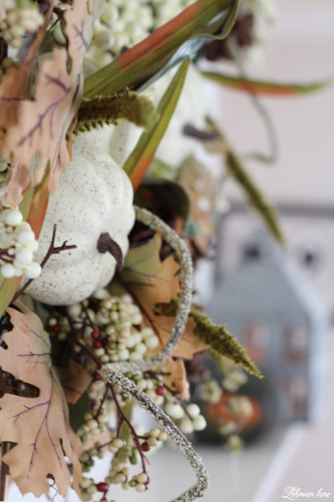 Splendor of Autumn Home Tour with Balsam Hill - heirloom pumpkin and magnolia wreath