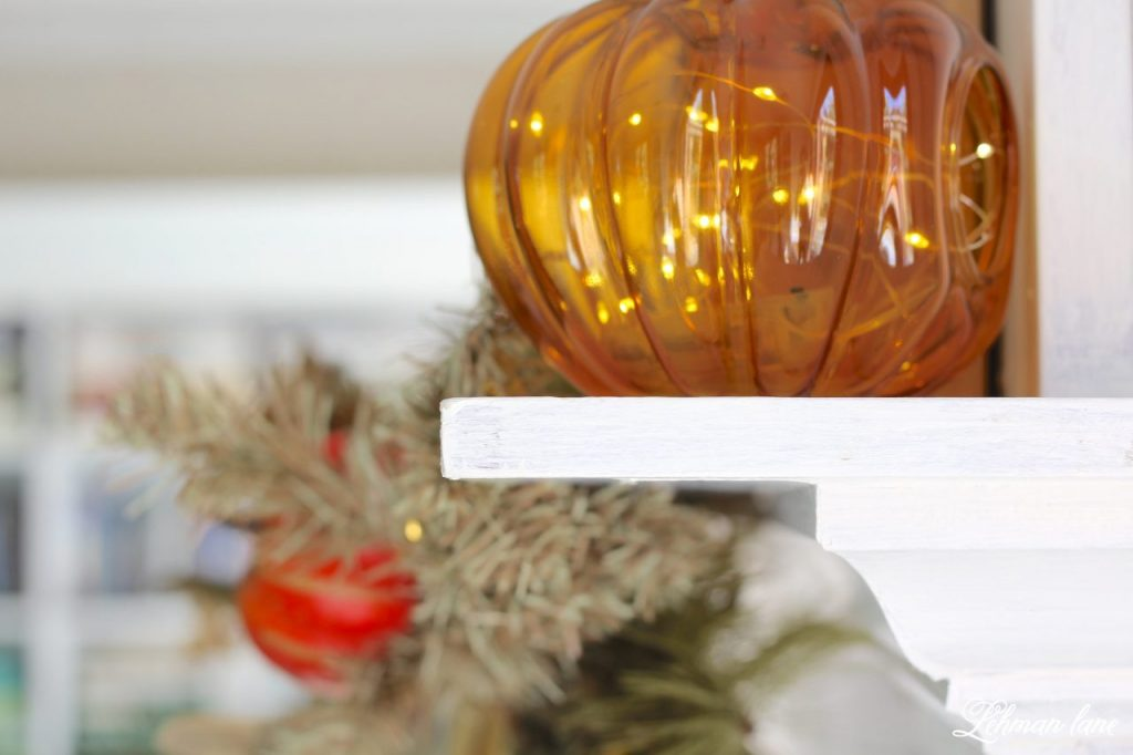 Splendor of Autumn Home Tour with Balsam Hill - fall pumpkin candle holder