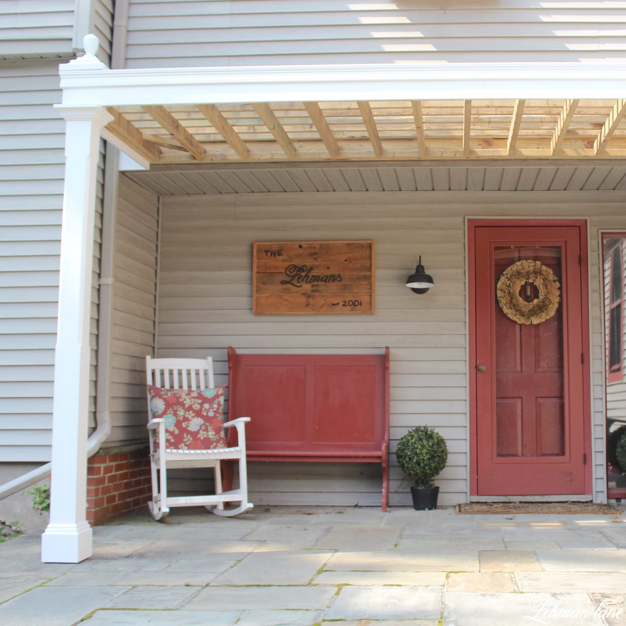- Front Porch Pergola For Our Farmhouse - Lehman Lane
