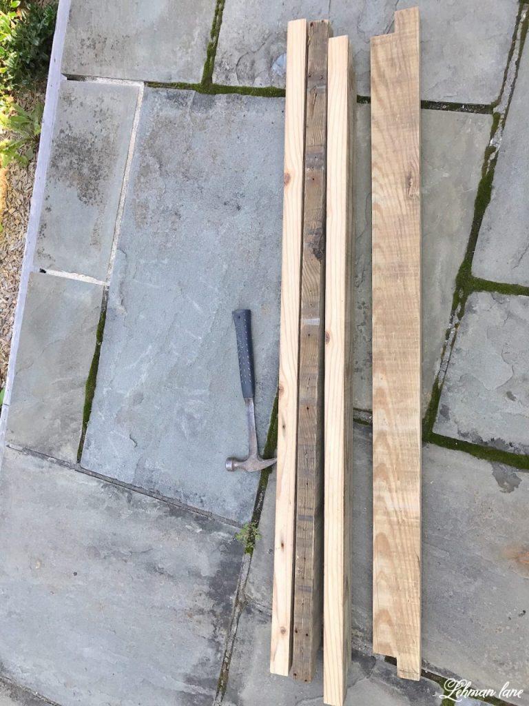 front porch pergola for our farmhouse - boards