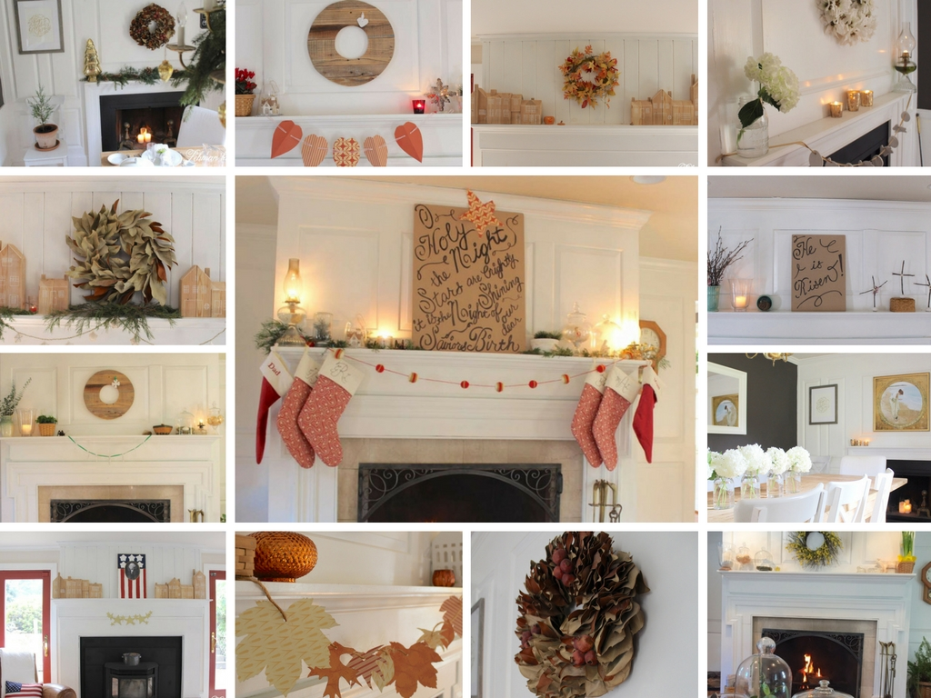 Fireplace mantel decorating ideas for the whole year - Fireplace mantel decor ideas ...