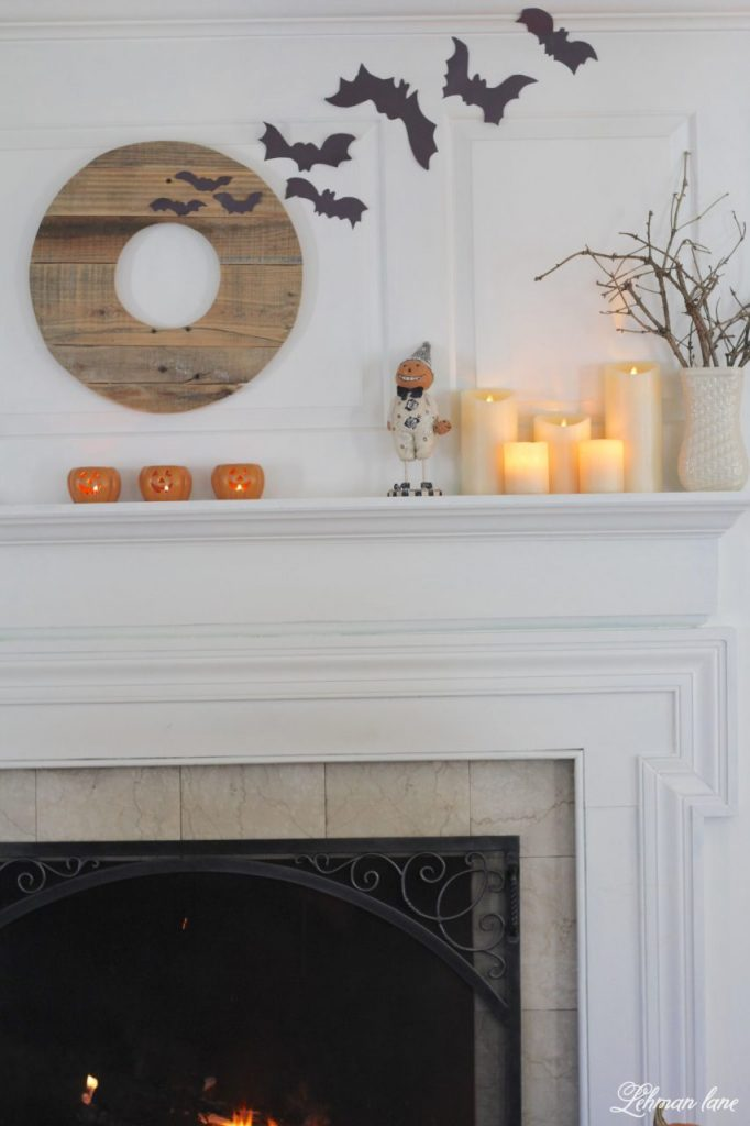 Halloween Mantel for our farmhouse