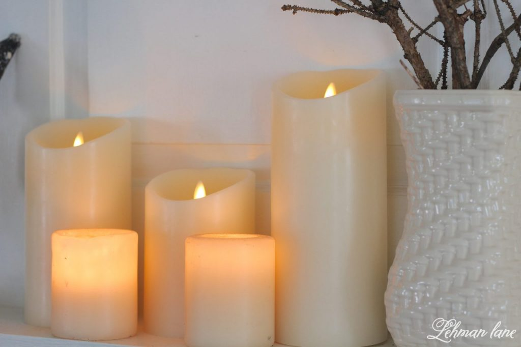 Halloween Mantel - miracle flame candles