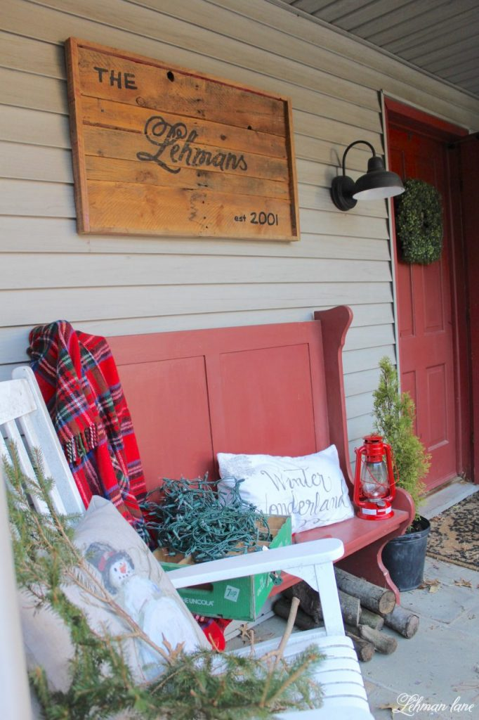 Christmas Home Tour - front porch