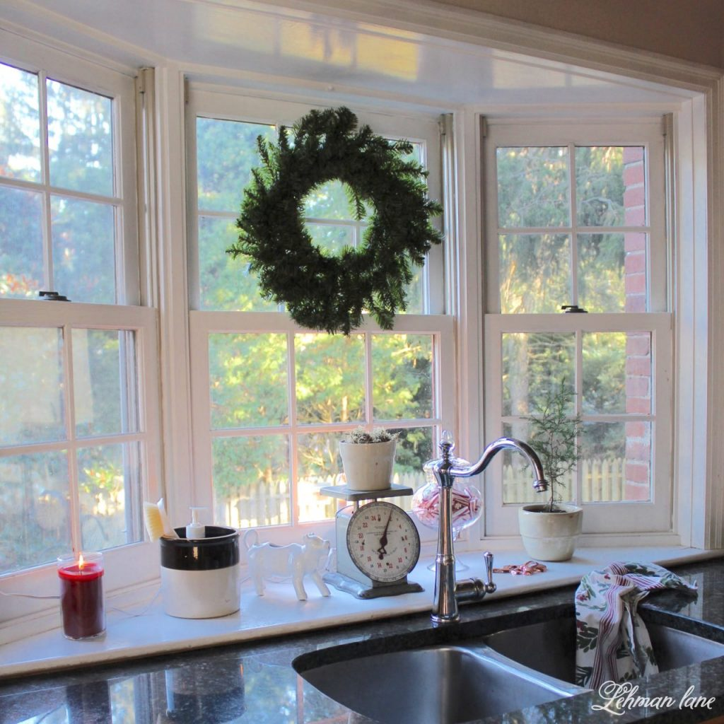 Christmas Home Tour - kitchen window