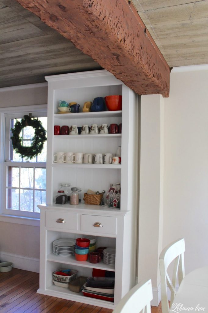 Christmas Home Tour - stepback cupboard