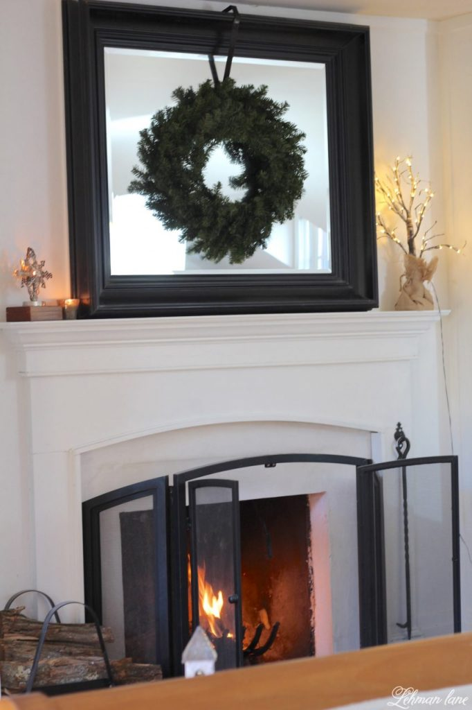 Christmas Home Tour - master bedroom fireplace