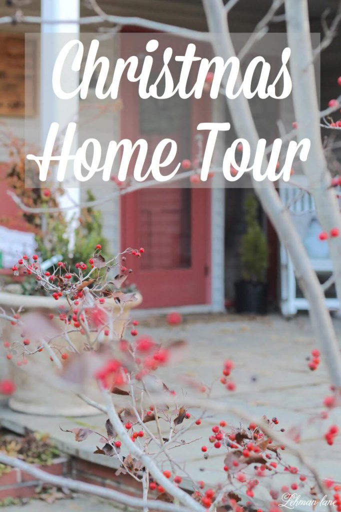 Christmas Home Tour -I am in full out Christmas decorating mode here at our farmhouse & today, I am sharing this year's Christmas home tour.  As I continue to photograph each of our rooms for Christmas it has become very apparent to me that I have abandoned simple Christmas decorating this year. #christmasfarmhouse http://lehmanlane.net