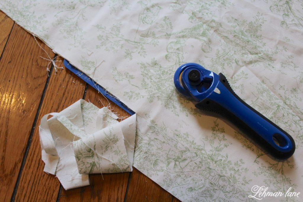 DIY Balloon Shade - cutting fabric