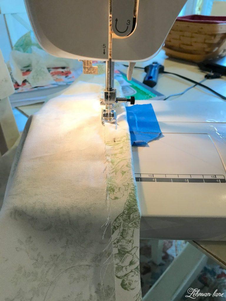 DIY Balloon Shade - sewing a hem