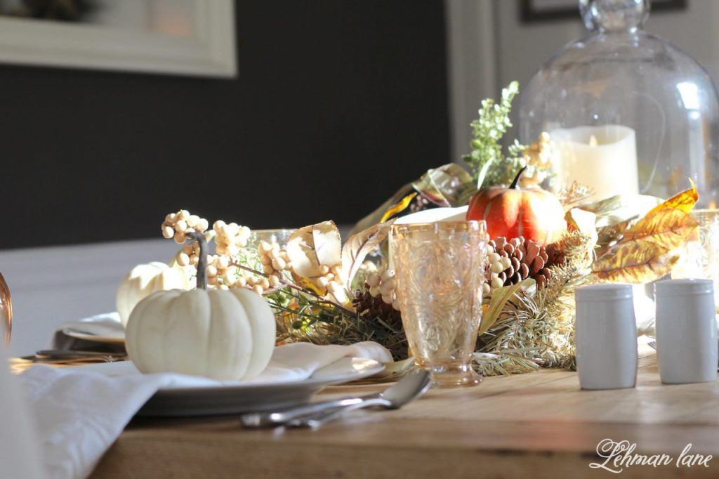 Fall Tablescape for Thanksgiving - Farmhouse Dining Room