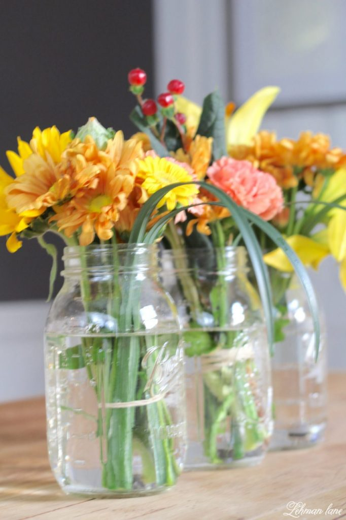 Simple Flower Arranging - Ball Jars