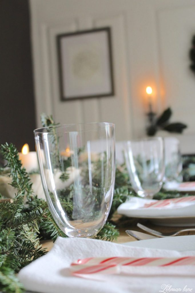 Christmas Tablescape - farmhouse table