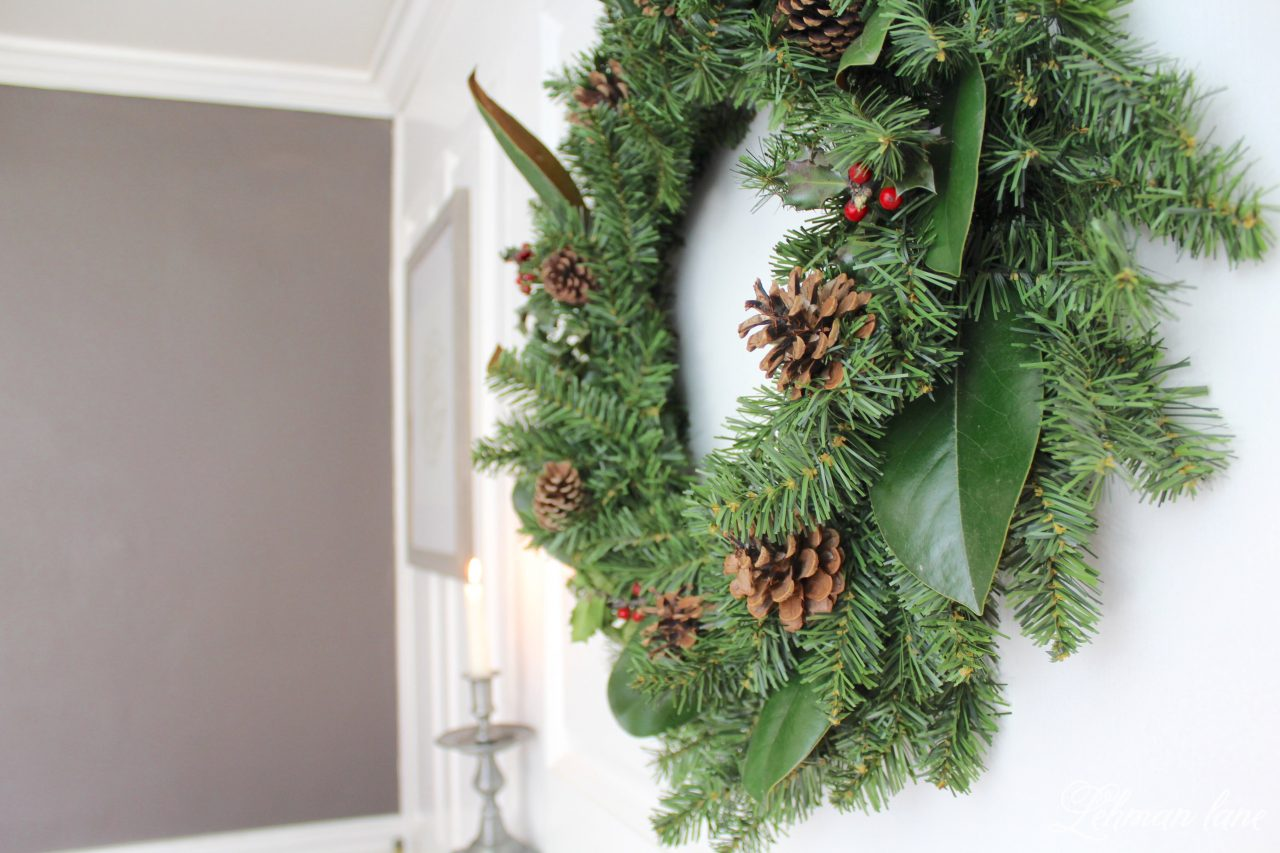 Diy simple christmas wreath lehman lane Simple christmas wreaths