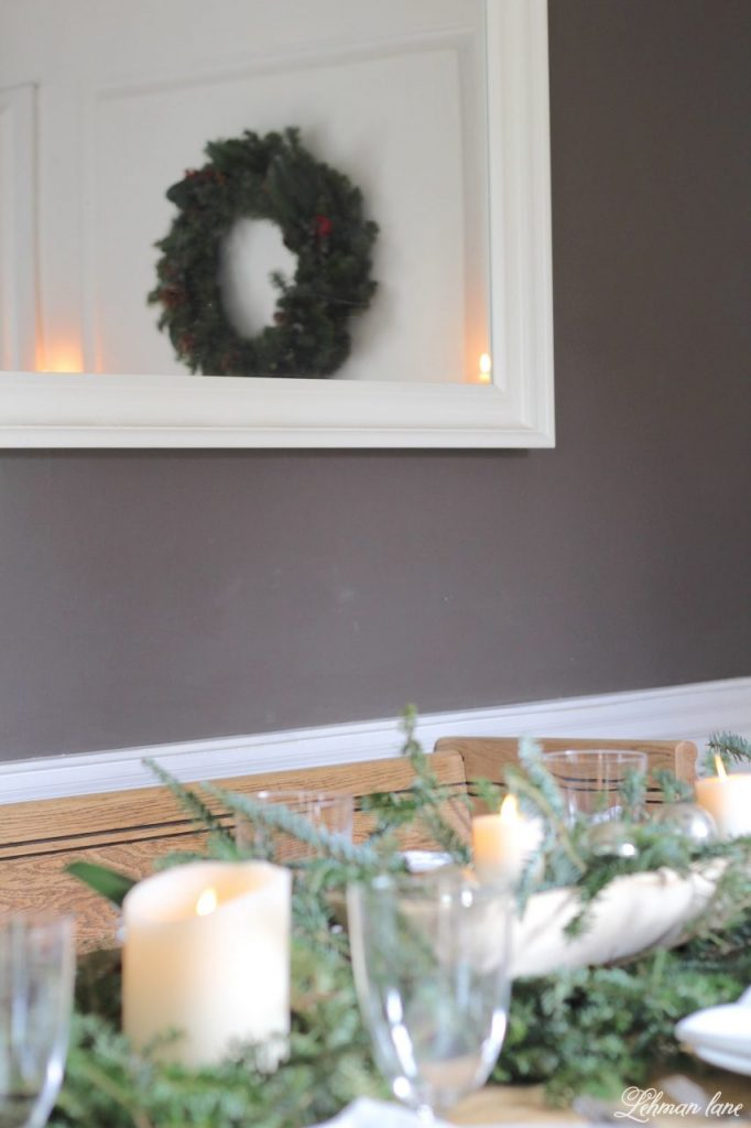 DIY Simple Christmas Wreath - Christmas Table