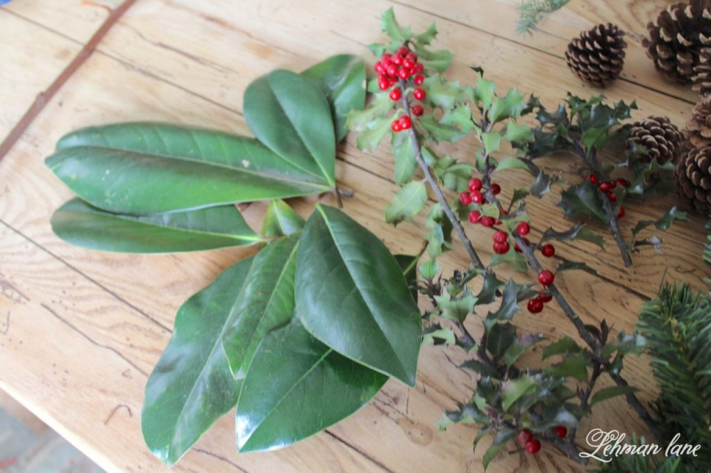 DIY Simple Christmas Wreath - fresh greenery supplies