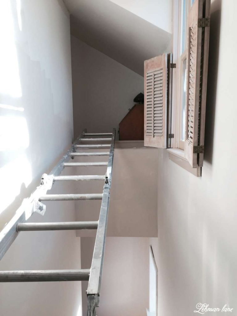 DIY   Refinishing Our Farmhouse Stairs   Painting The Vaulted Stairway