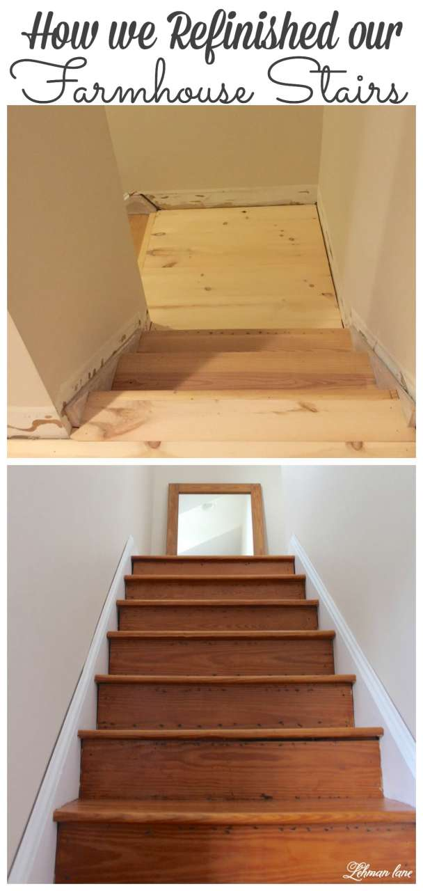 Sharing How We Refinished Our Farmhouse Stairs From Begining To End #diy # Stairs #