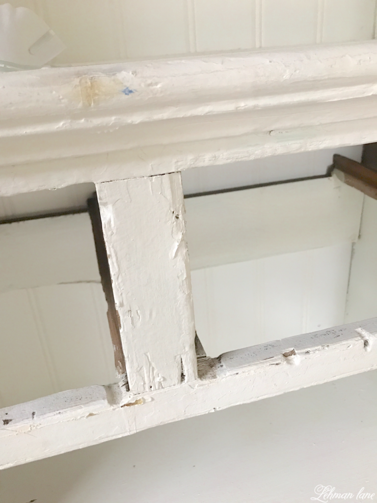 Refinishing a Stepback Cupboard - before peeling paint