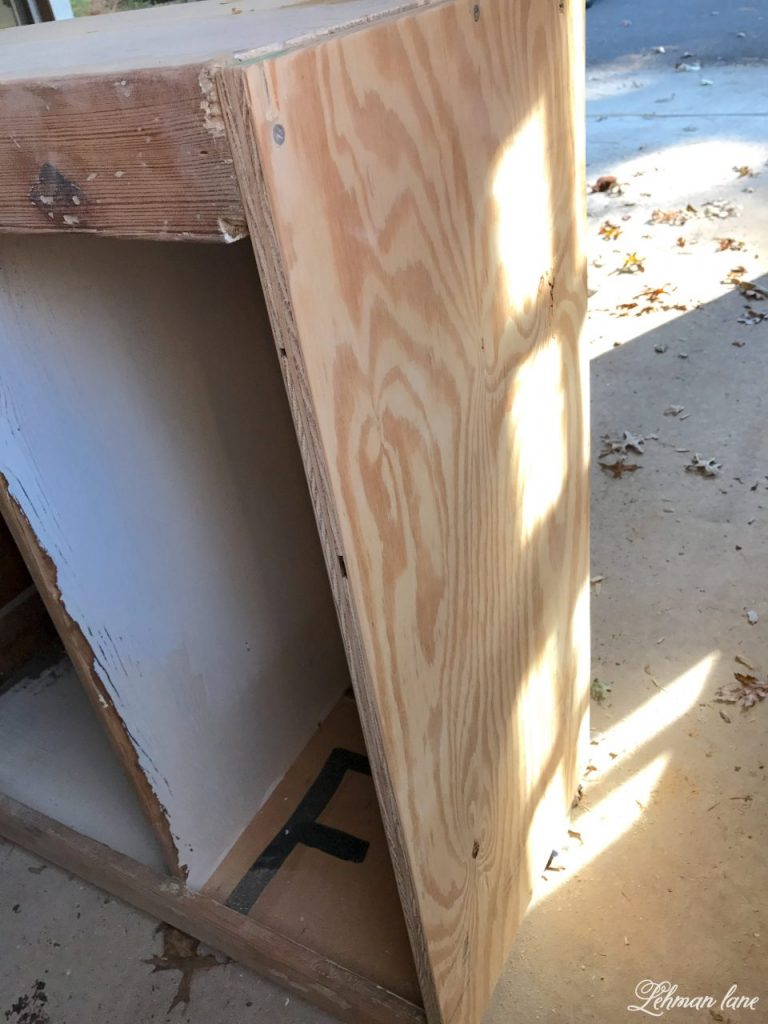 Refinishing a Stepback Cupboard - reinforcing the bottom of the cupboard