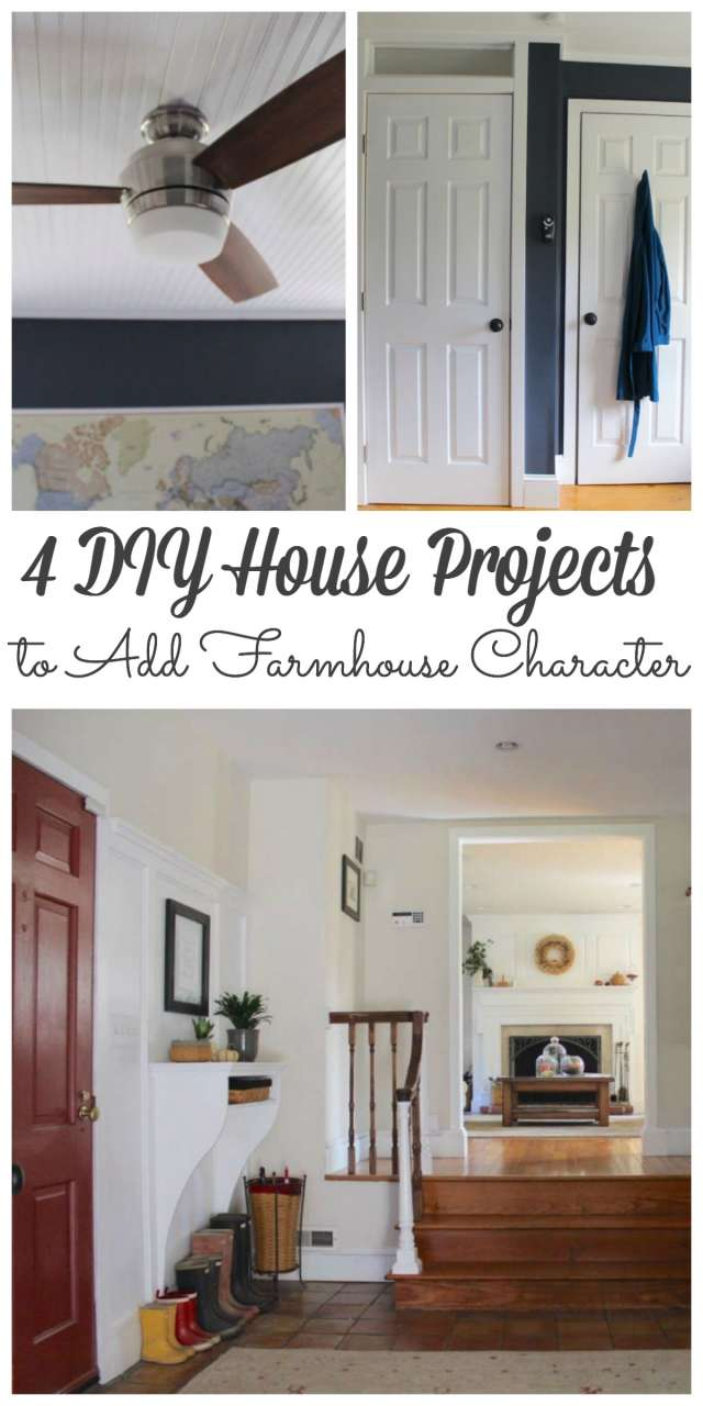4 DIY House Projects to Give Your Home Farmhouse Character - #diyprojects #farmhouse #diy http://lehmanlane.net
