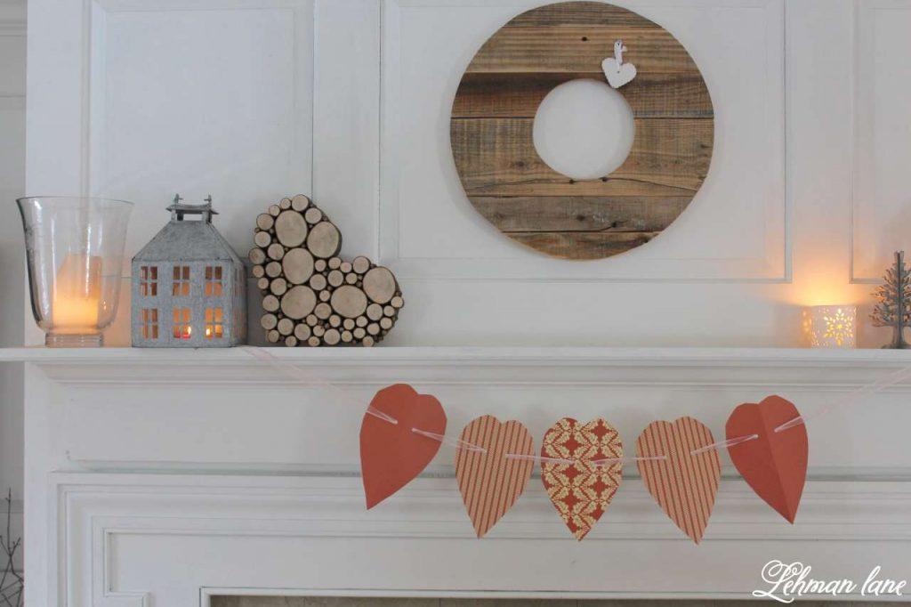 Wood Slice Heart - Valentine Mantel