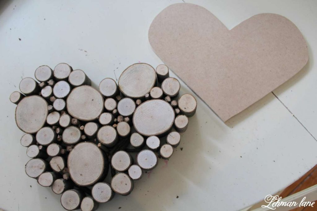 Wood Slice Heart - Valentine Mantel - MDF heart