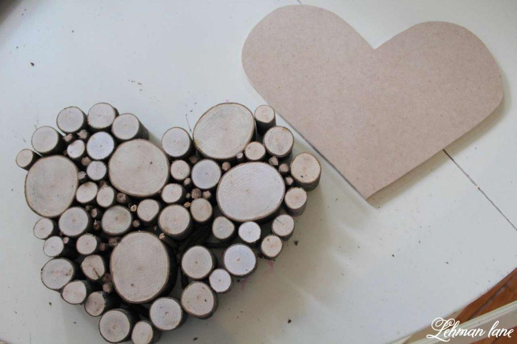 Wood Slice Heart - Valentine Mantel - MDF heart