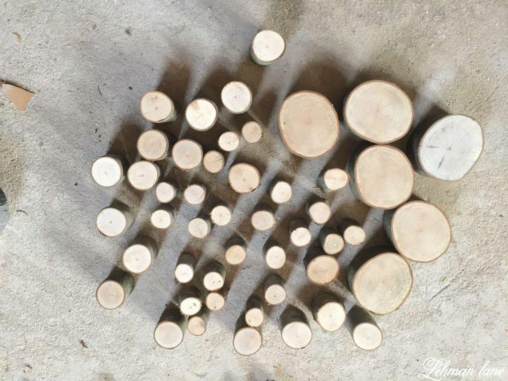 Wood Slice Heart - Valentine Mantel - cut wood slices
