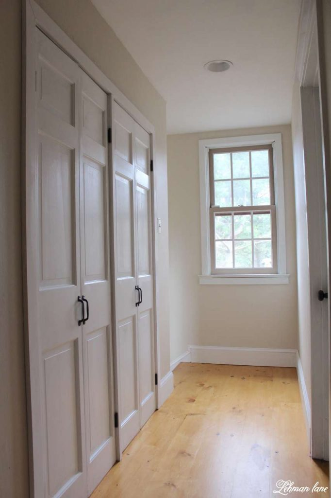 DIY - Closet Door Makeover - Bi-fold to Hinged in Hallway
