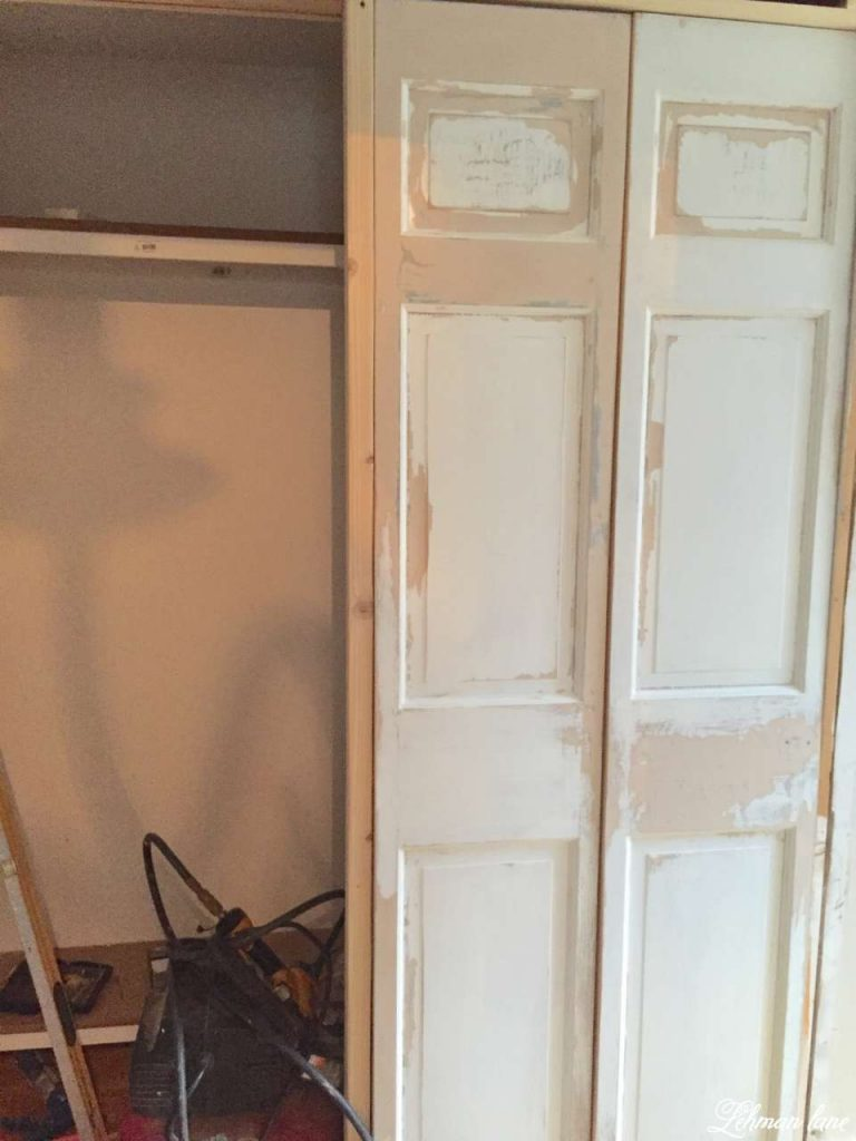 DIY - Closet Door Makeover - Bi-fold to Hinged - doors before