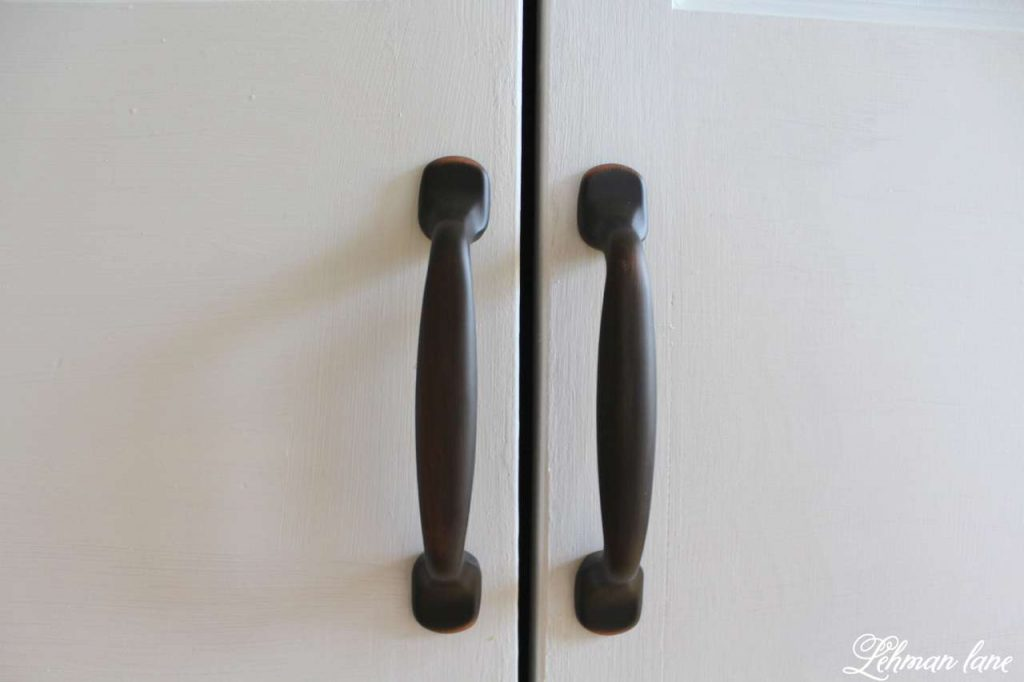 DIY - Closet Door Makeover - Bi-fold to Hinged - oil rubbed bronze door handles