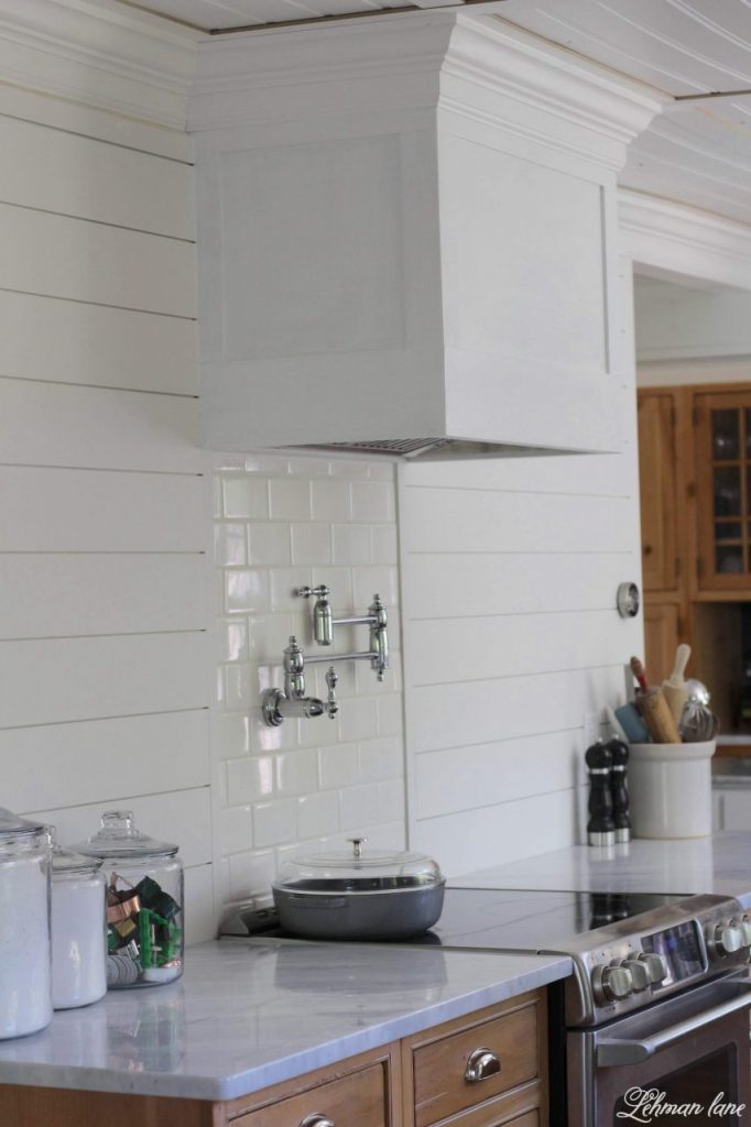 DIY Wood Range Hood   We Officially Have A Range Hood For Our Oven! Our