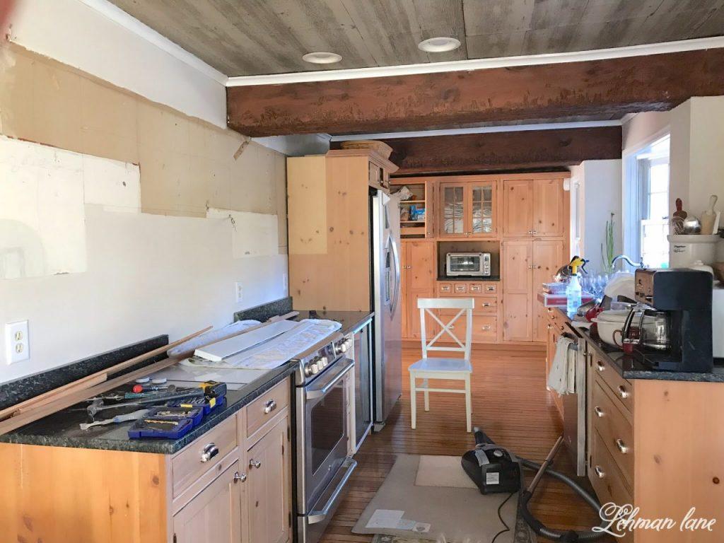 DIY Wood Range Hood   Taking Down Upper Cabinets