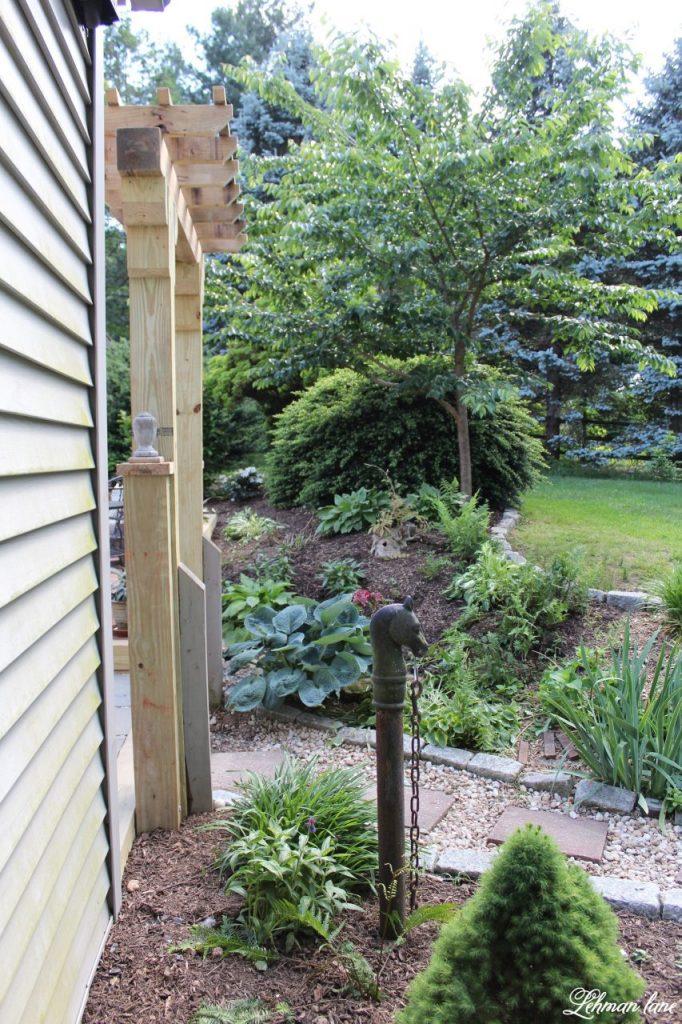 Our New Patio Garden - diy arbor garden entrance