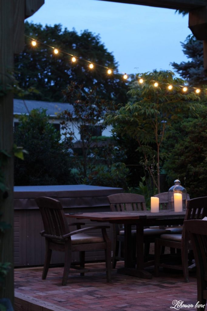 5 Inexpensive Ideas For Outdoor Patio Lights   Today I Am Sharing My 5  Favorite Inexpensive