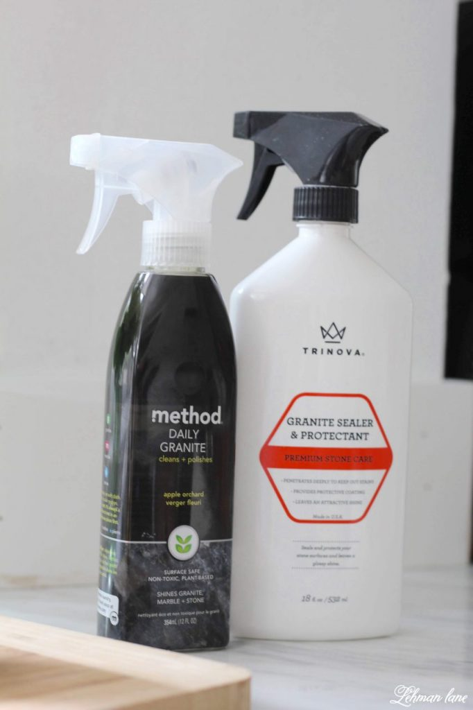 Carrara Marble Countertops & a Review - favorite cleaner and sealer