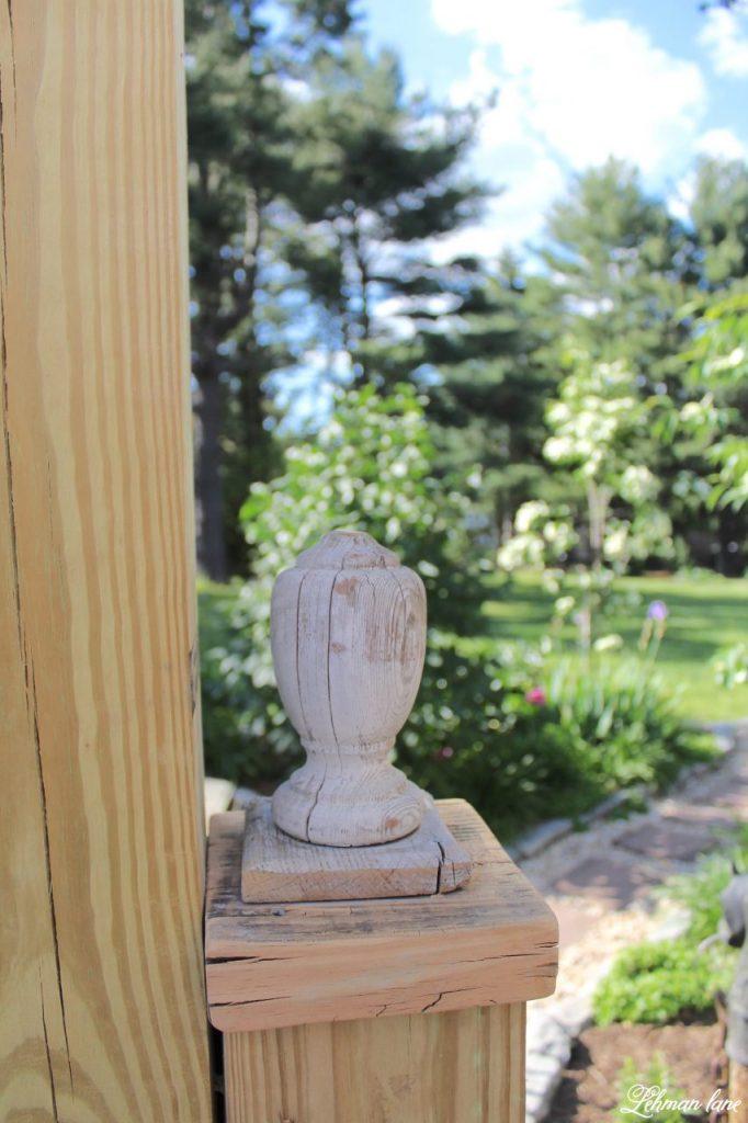 DIY Wooden Arbor - finial