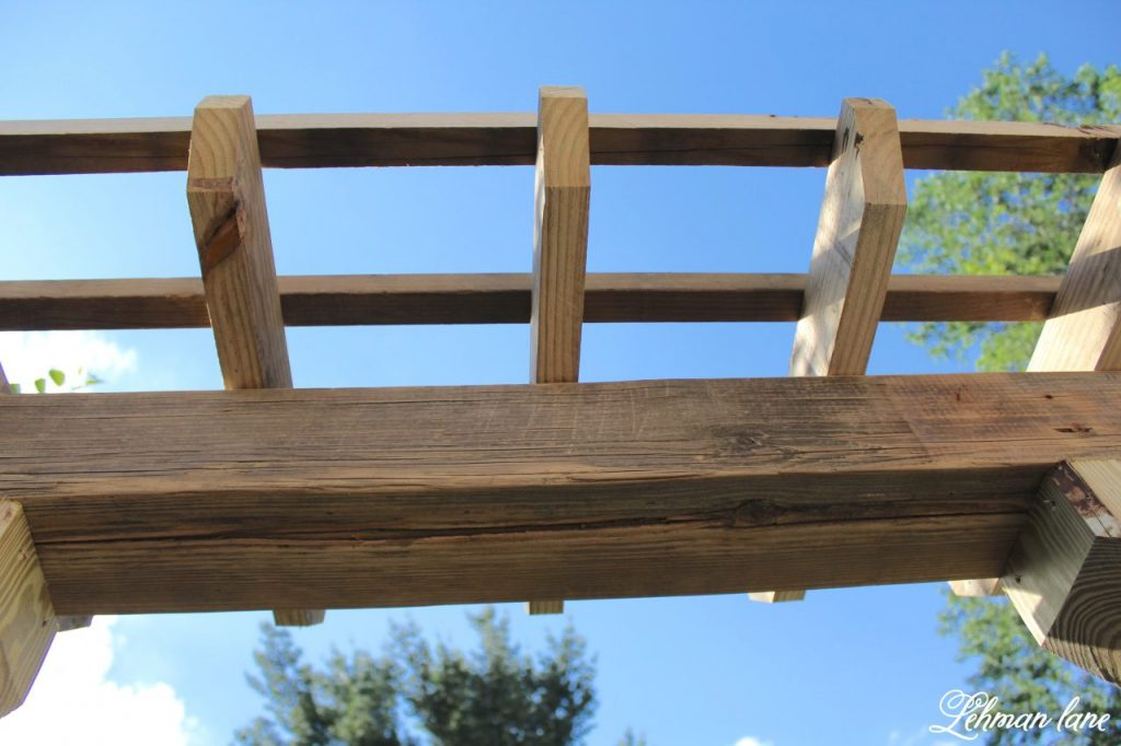 DIY Wooden Arbor - lattice