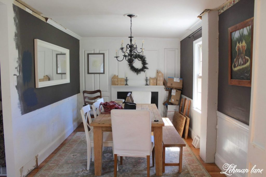 Farmhouse Kitchen Makeover Reveal - Dining room before