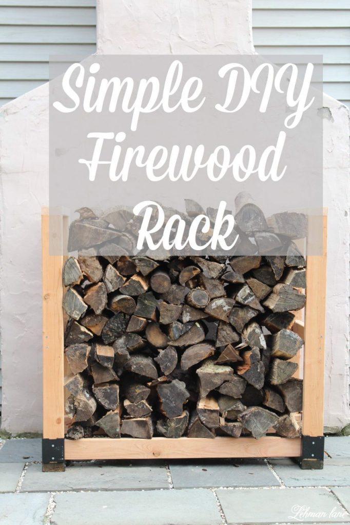 Simple DIY Firewood Rack