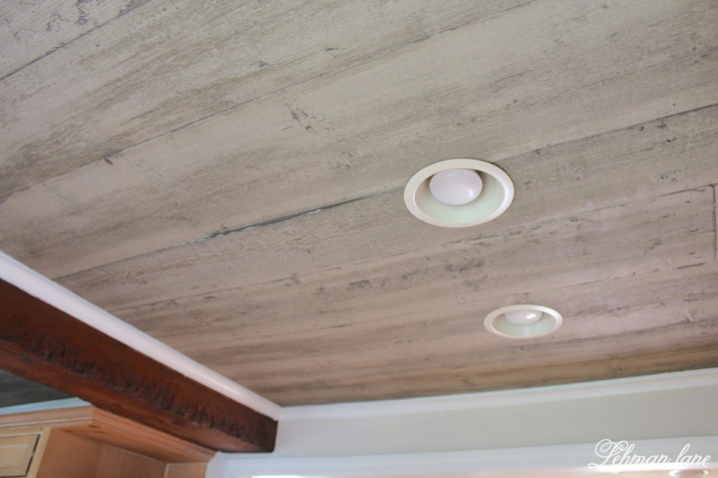 Farmhouse Kitchen Renovation - the Plan - the ceiking faux beam and wood
