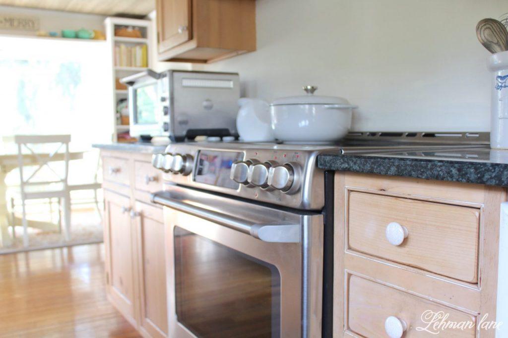 New Electric Stove & kitchen reno progress - farmhouse