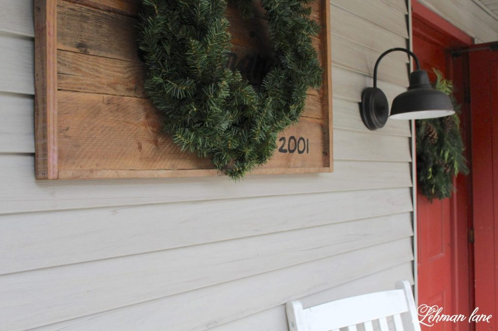 Christmas Home Tour from our Farmhouse - Staying true to our 1800's farmhouse I kept the style cozy & warm with lots of greenery mixed in & I hope you will enjoy all the Christmas decorating ideas I am sharing today. #christmas #christmasfarmhouse http://lehmanlane.net