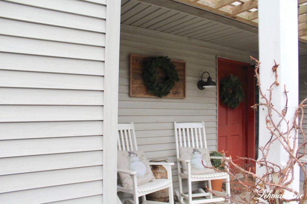 Christmas home tour of our Farmhouse - Staying true to our 1800's farmhouse I kept the style cozy & warm with lots of greenery mixed in & I hope you will enjoy all the Christmas decorating ideas I am sharing today. #christmas #farmhousechristmas http://lehmanlane.net