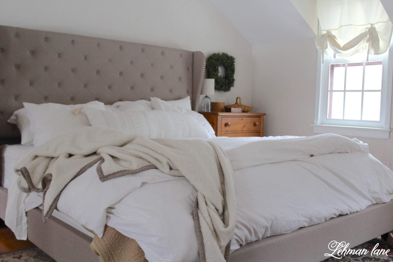 Farmhouse Master Bedroom Refresh - #farmhousebedroom http://lehmanlane.net