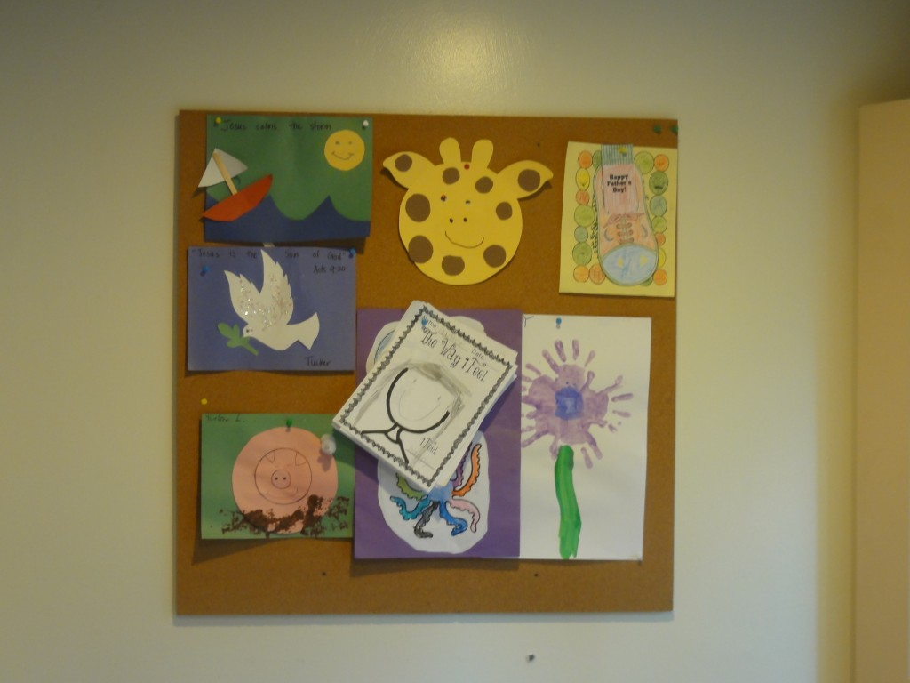 DIY Cork Board - What to do with all your kids artwork - lehmanlane.net