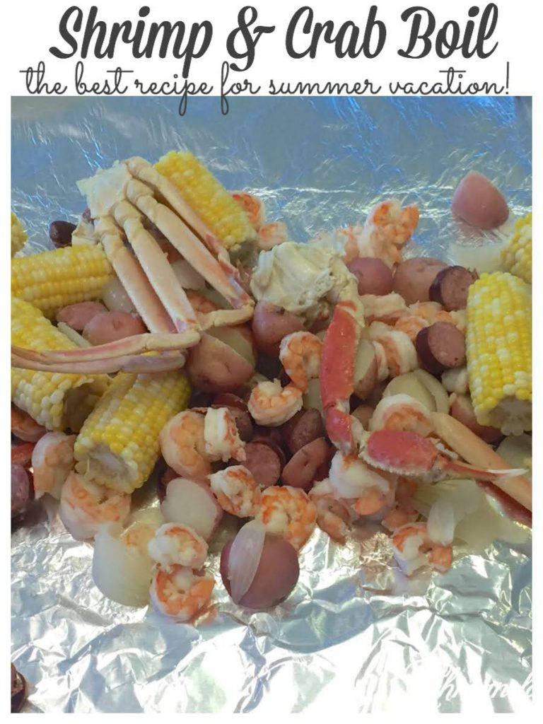 Sharing what our family thinks is the BEST shrimp and crab boil recipe you can eat.  This easy shrimp boil recipe is delicious and can feed a hungry crowd.  It our favorite summer dinner to enjoy when we are on vacation, whether at the beach or the lake #shrimpandcrabboil #summerrecipes #shrimpboil https://lehmanlane.net