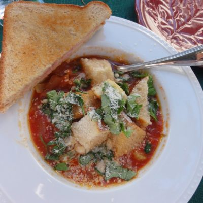 Homemade Tomato Bread Soup