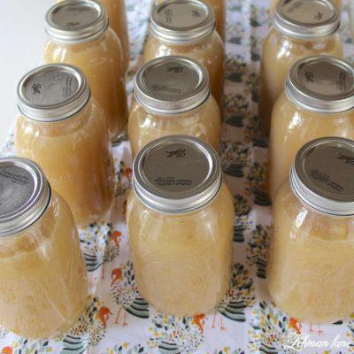 homemade applesauce recipe - Ball Jars